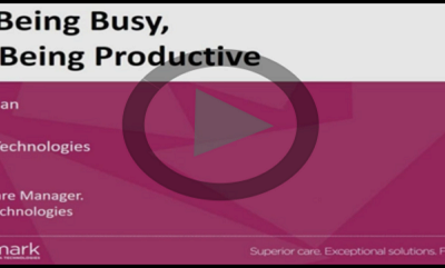 Stop Being Busy & Start Being Productive